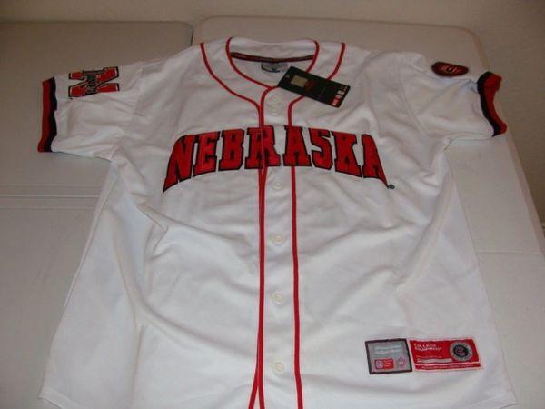 #15 NEBRASKA Cornhuskers NCAA Baseball White Mint Throwback Team Jersey