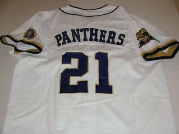 #21 Pittsburgh PITT Panthers NCAA Baseball White Throwback Team Jersey