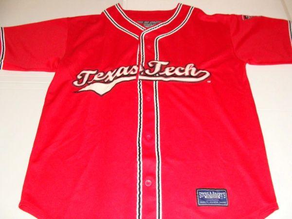 #33 TEXAS TECH Red Raiders NCAA Baseball Red Throwback Team Jersey