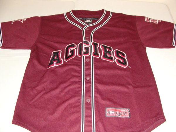 TEXAS A&M Aggies NCAA Baseball Maroon Throwback Team Jersey