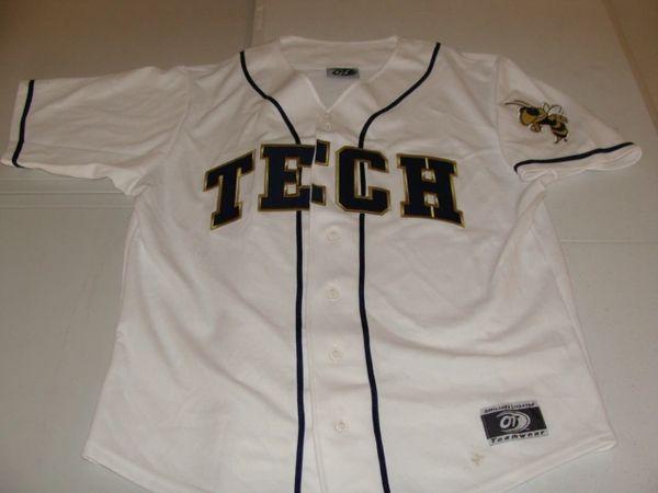 GEORGIA TECH Yellow Jackets NCAA Baseball White Throwback Team Jersey
