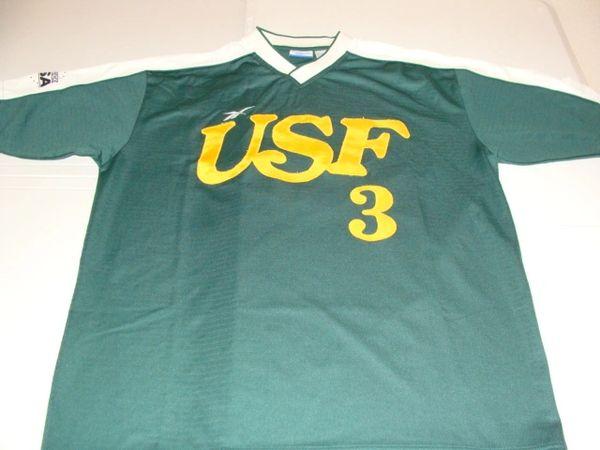 #3 USF Bulls NCAA Baseball Green Throwback Jersey