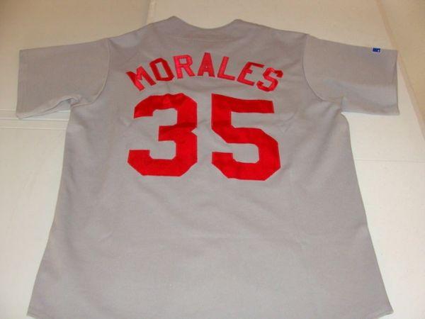 #35 MORALES Veracruz Red Eagles Mexican League Baseball Grey Throwback Jersey