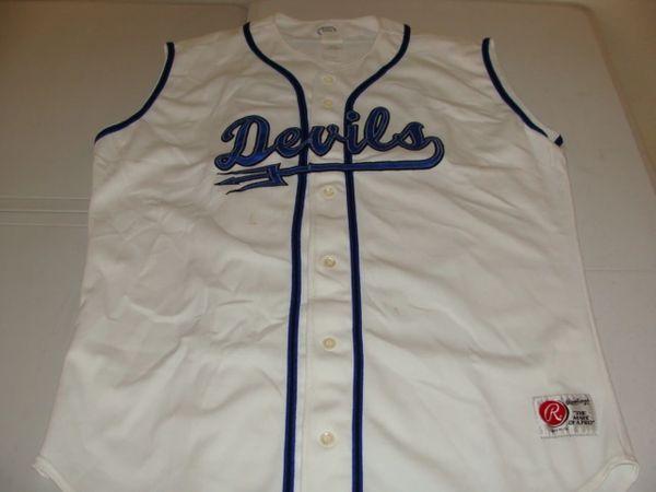 #27 DUKE Blue Devils NCAA Baseball White Throwback Vest Jersey