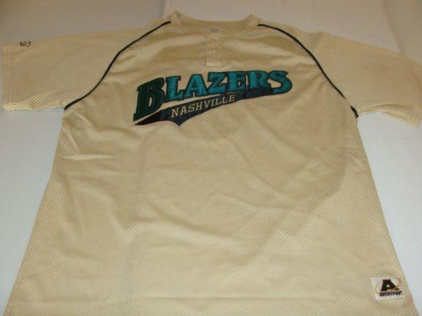 #5 NASHVILLE Blazers Amateur Baseball Gold Throwback Jersey