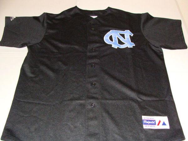 NORTH CAROLINA Tarheels NCAA Baseball Black Throwback Team Jersey