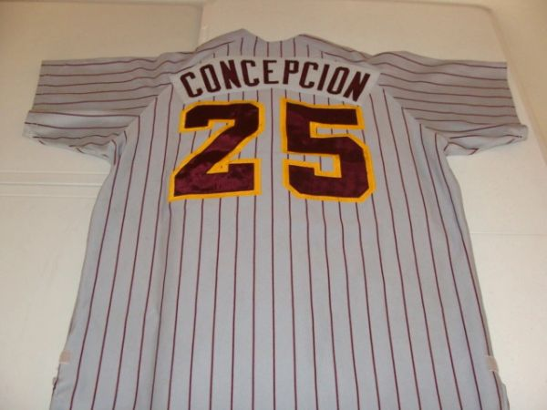 #25 CONCEPCION Bethune-Cookman Wildcats NCAA Baseball Grey PS Throwback Jersey