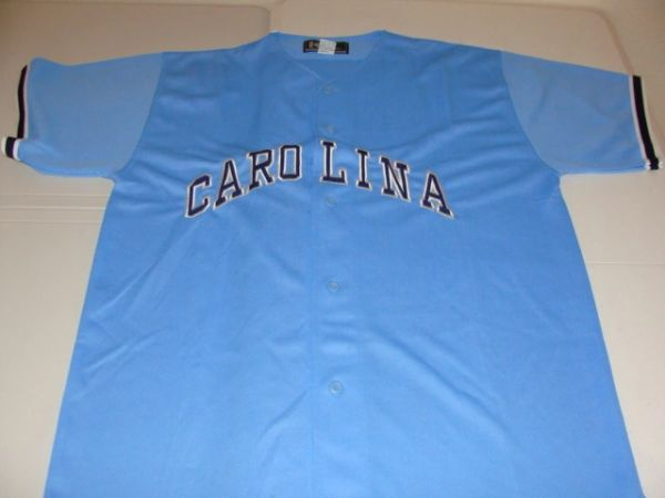 NORTH CAROLINA Tarheels NCAA Baseball Blue Throwback Team Jersey