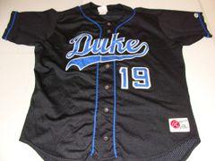 #19 DUKE Blue Devils NCAA Baseball Black Throwback Jersey