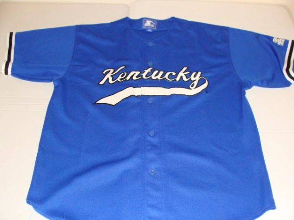KENTUCKY Wildcats NCAA Baseball Blue Throwback Team Jersey