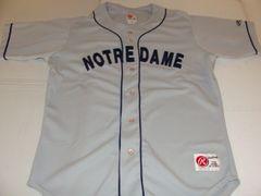 NOTRE DAME Fighting Irish NCAA Baseball Grey Throwback Team Jersey