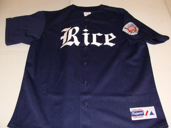 RICE Owls NCAA Baseball 2003 CWS Blue Throwback Team Jersey