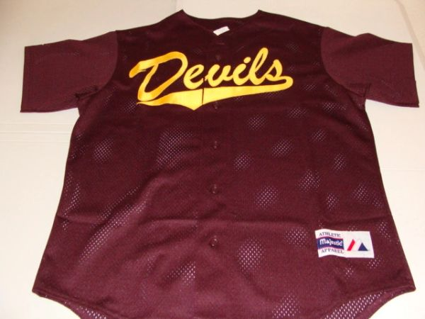 ARIZONA STATE Sun Devils NCAA Baseball Red Throwback Team Jersey