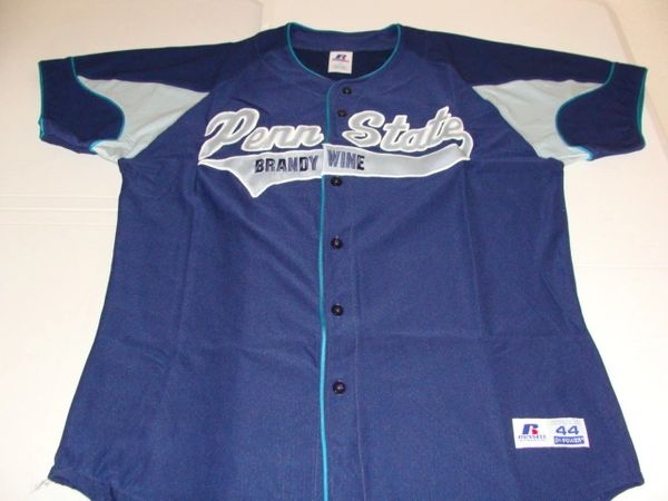 #7 PENN STATE Brandywine Nittany Lions USCAA Baseball Blue Throwback Jersey
