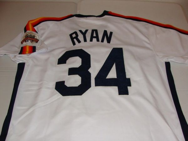 #34 NOLAN RYAN Houston Astros MLB Pitcher White 1986 All-Star Throwback Jersey