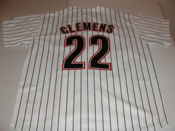 #22 ROGER CLEMENS Houston Astros MLB Pitcher White PS Throwback Jersey