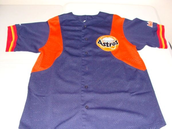 size 40 61f6a c26b1 HOUSTON Astros MLB Baseball Blue/Orange Team Throwback Jersey