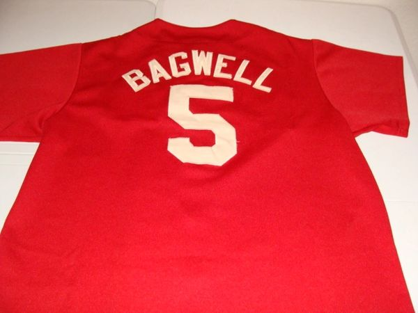 newest 56d65 e9d5a #5 JEFF BAGWELL Houston Astros MLB 1B Red Brick Throwback Jersey