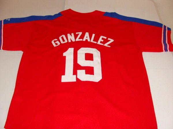 online store e837c dc2d8 #19 JUAN GONZALEZ Texas Rangers MLB OF Red Throwback Jersey