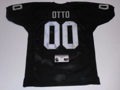 #00 JIM OTTO Oakland Raiders AFL/NFL Center Black Throwback Jersey AUTOGRAPHED