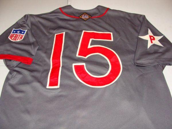 brand new 07490 70c42 #15 PHILADELPHIA Stars Negro League Baseball Grey Throwback Jersey