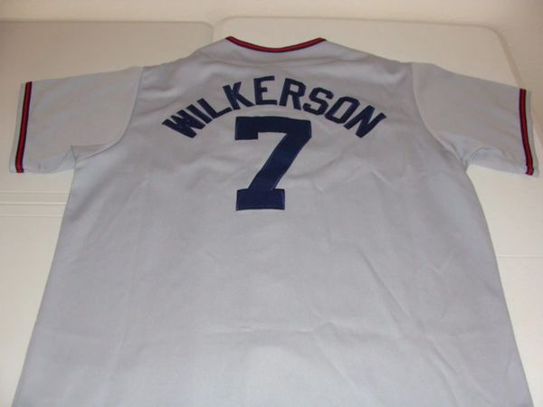 huge selection of 9fb5b e91a9 #7 BRAD WILKERSON Washington Nationals MLB OF/1B Grey Throwback Jersey
