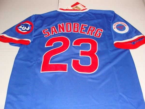 best sneakers 3d0a4 88523 #23 RYNE SANDBERG Chicago Cubs MLB 2B Blue Mint Throwback Jersey