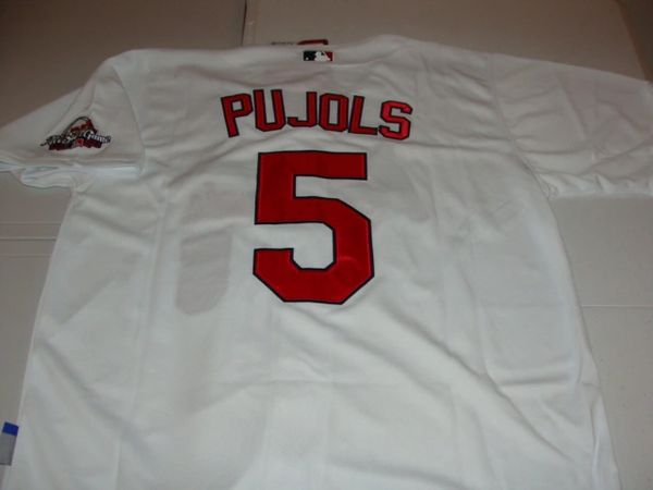 #5 ALBERT PUJOLS St. Louis Cardinals MLB 1B White Mint Throwback Jersey