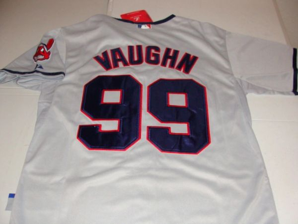 "#99 RICK VAUGHN Cleveland Indians MLB ""Major League"" Movie Grey Mint Throwback Jersey"