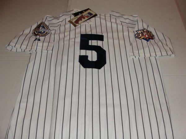 #5 JOE DIMAGGIO New York Yankees MLB OF White PS 2009 WS Mint Throwback Jersey