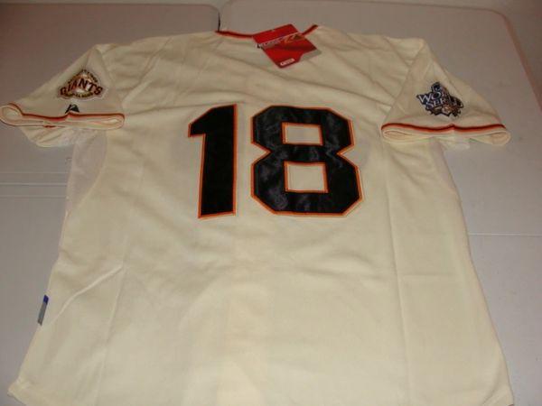 #18 MATT CAIN San Francisco Giants MLB Pitcher Cream 2010 WS Mint Throwback Jersey