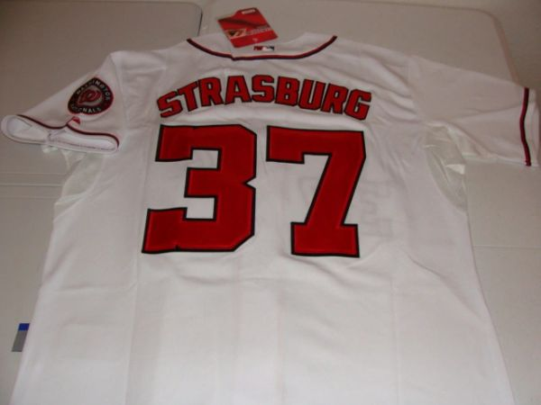 #37 STEPHEN STRASBURG Washington Nationals MLB Pitcher White Mint Throwback Jersey