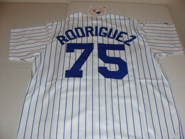 #75 FRANCISCO RODRIGUEZ New York Mets MLB Pitcher White PS Mint Throwback Jersey