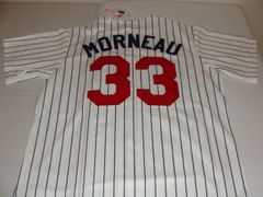 #33 JUSTIN MORNEAU Minnesota Twins MLB 1B/DH White PS Mint Throwback Jersey