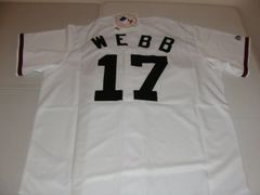 #17 BRANDON WEBB Arizona Diamondbacks MLB Pitcher White Mint Throwback Jersey