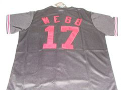 #17 BRANDON WEBB Arizona Diamondbacks MLB Pitcher Black Mint Throwback Jersey