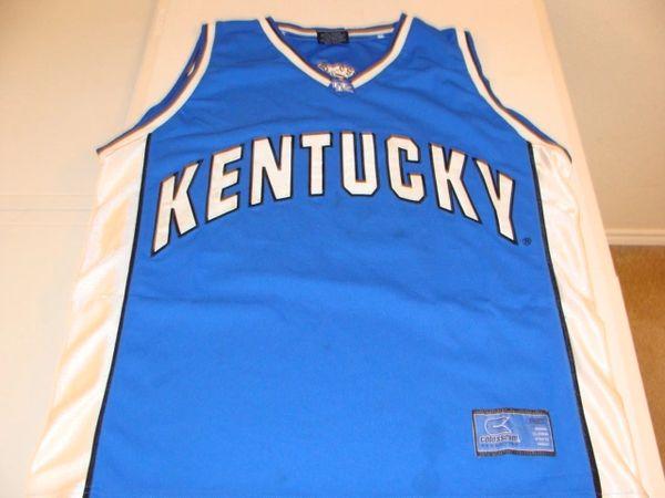 #50 KENTUCKY Wildcats NCAA Basketball Blue Throwback Team Jersey