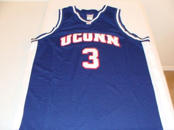 #3 UCONN Huskies NCAA Basketball Blue Throwback Team Jersey