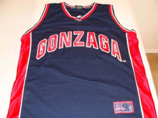 #33 GONZAGA Bulldogs NCAA Basketball Black Throwback Team Jersey