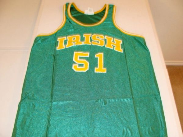 #51 NOTRE DAME Fighting Irish NCAA Basketball Green Throwback Team Jersey