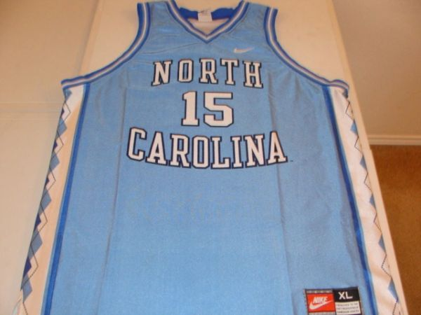 #15 NORTH CAROLINA Tar Heels NCAA Basketball Blue Throwback Team Jersey