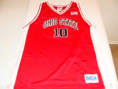 #10 OHIO STATE Buckeyes NCAA Basketball Red Throwback Team Jersey