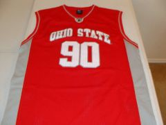 #90 OHIO STATE Buckeyes NCAA Basketball Red Throwback Team Jersey