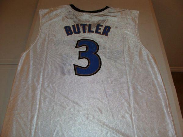 #3 CARON BUTLER Washington Wizards NBA SF White Throwback Jersey