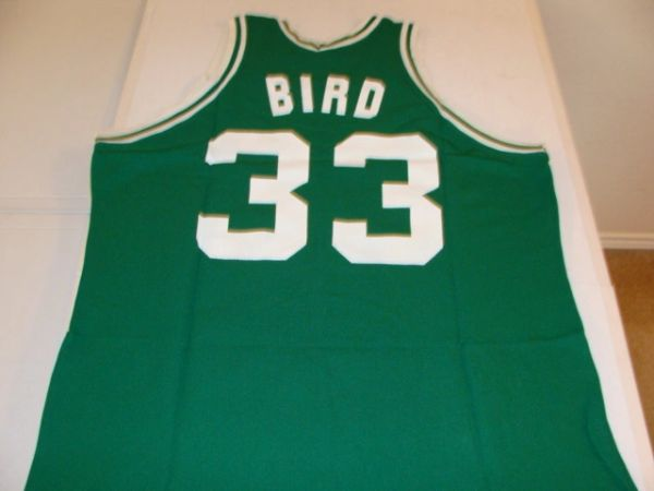 #33 LARRY BIRD Boston Celtics NBA Forward Green S-K Throwback Jersey