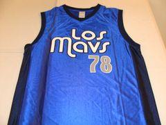 #78 LOS MAVS Dallas Mavericks NBA Blue Throwback Coors Light Promo Jersey