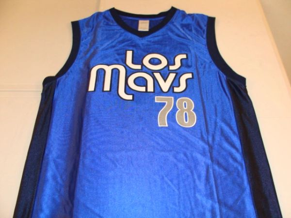 #78 LOS MAVS Dallas Mavericks NBA Blue Throwback Coors Light Promo Jersey