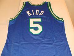 #5 JASON KIDD Dallas Mavericks NBA Guard Blue Champion Throwback Jersey