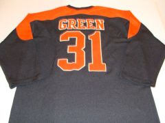 #31 WILLIAM GREEN Cleveland Browns NFL RB Black L/S Throwback Jersey