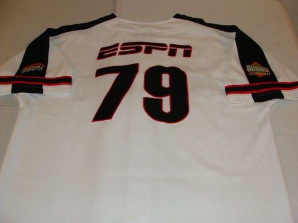 #79 ESPN Baseball Tonight Sports News White Throwback Team Jersey